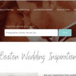 The homepage for Premier Bride's Boston site.