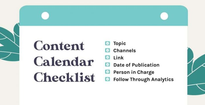 checklist for creating content